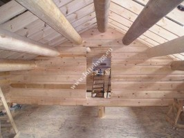 installation of ceiling wooden house