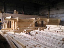 one-story wooden home price of logs Photo