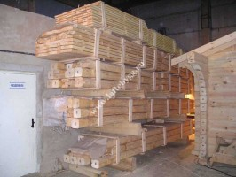 construction of holiday wooden houses