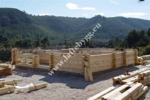 construction of wooden houses photo