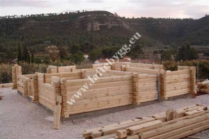 new home construction of wooden houses