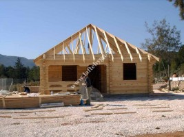 new wooden house photo