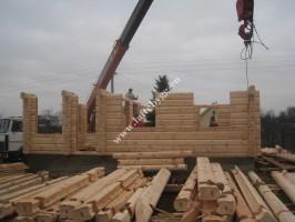 Wooden house installation